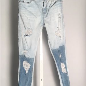 Pacsun Two-toned Distresses Skinny Jeans